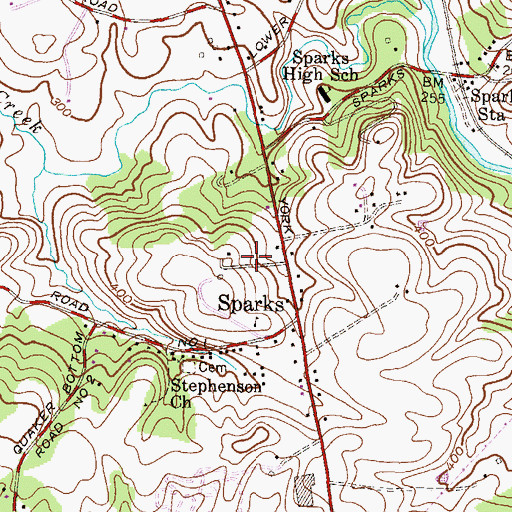 Topographic Map of Stoddard, MD