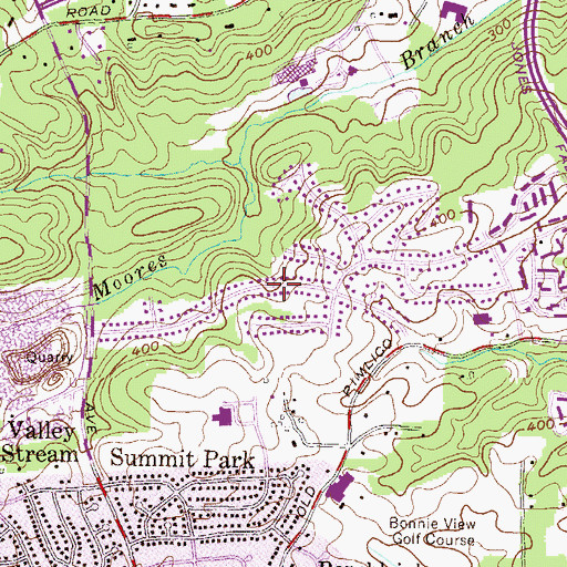 Topographic Map of Summit Chase, MD