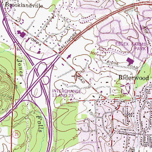 Topographic Map of Sunset Knoll, MD