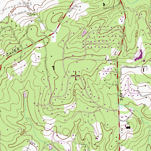 Topographic Map of Velvet Valley, MD