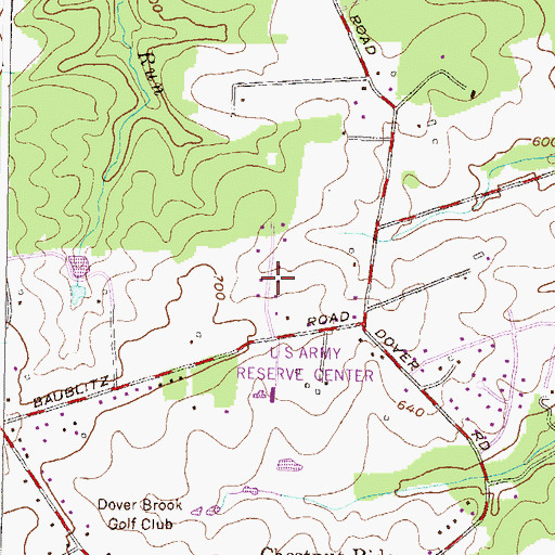Topographic Map of Worthington Ridge, MD