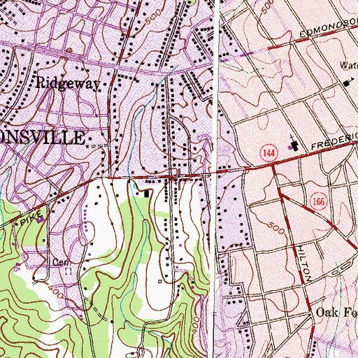 Topographic Map of First Church of Christ Scientist, MD