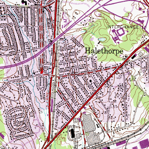 Topographic Map of Halethorpe United Methodist Church, MD
