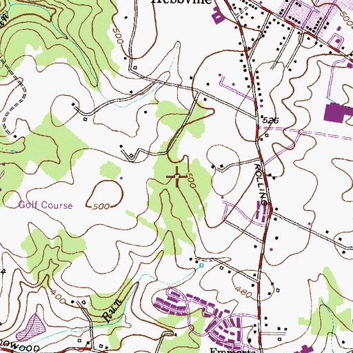 Topographic Map of Kingswood Common, MD