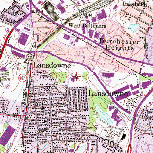 Topographic Map of Lansdowne Elementary School, MD