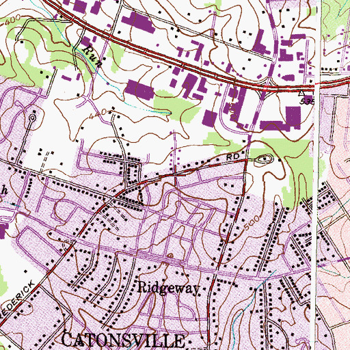 Topographic Map of Saint Paul School, MD