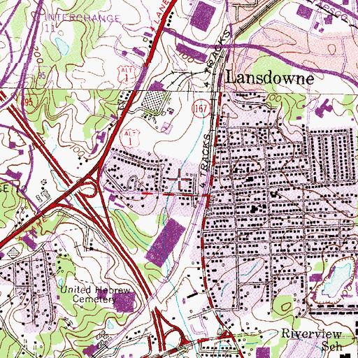 Topographic Map of Willow Grove Park, MD