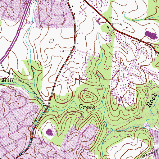 Topographic Map of Diamond Farms Post Office, MD