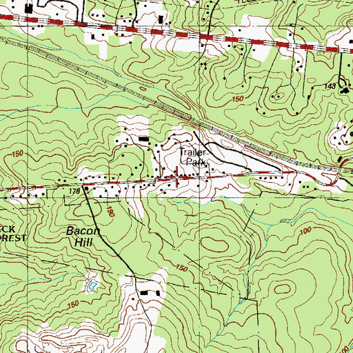 Topographic Map of Faith Tabernacle Camp Church, MD