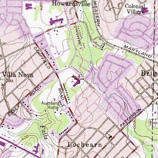 Topographic Map of Campfield Elementary School, MD