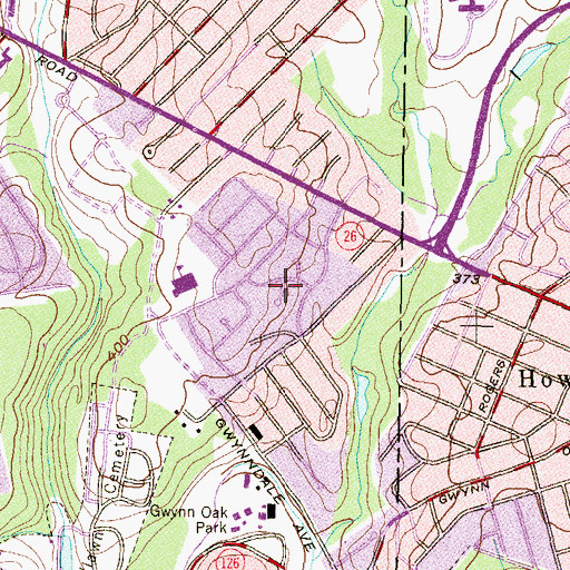 Topographic Map of Haywood Heights, MD