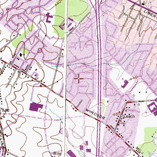 Topographic Map of Rutherford Green, MD
