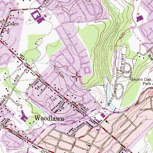 Topographic Map of West Glen, MD