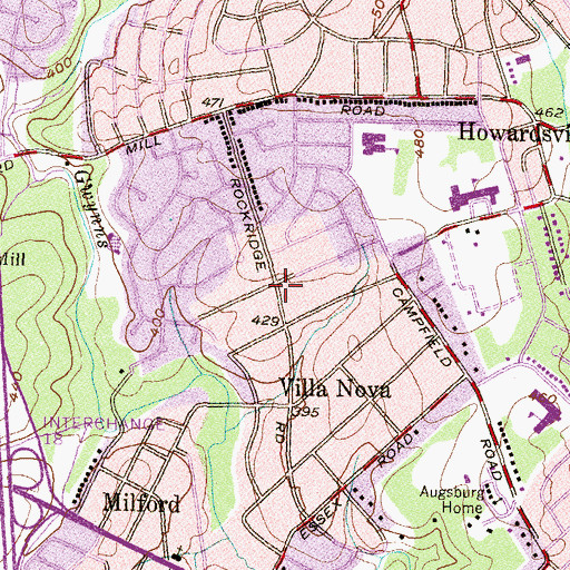 Topographic Map of Willow Glen, MD