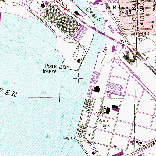 Topographic Map of Colgate Creek, MD
