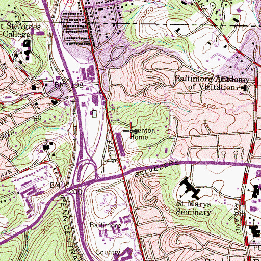Topographic Map of Egenton Home, MD