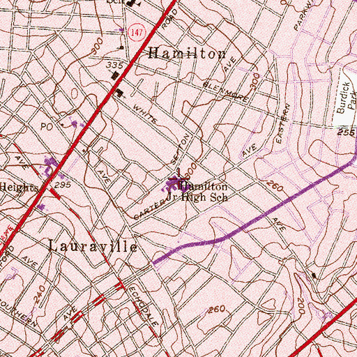 Topographic Map of City Neighbors High School, MD