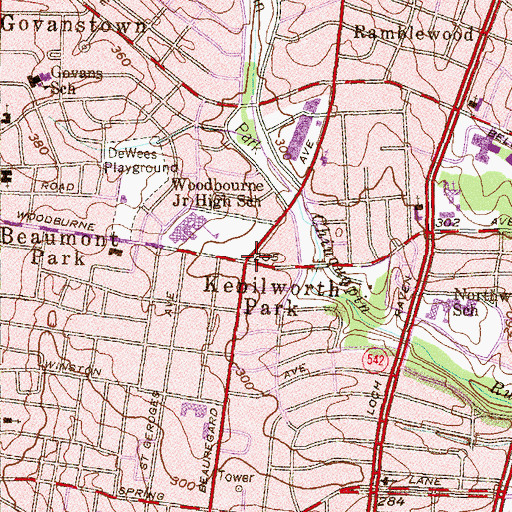 Topographic Map of Kenilworth Park, MD