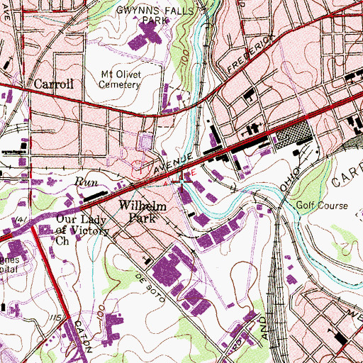 Topographic Map of Maidens Choice Run, MD