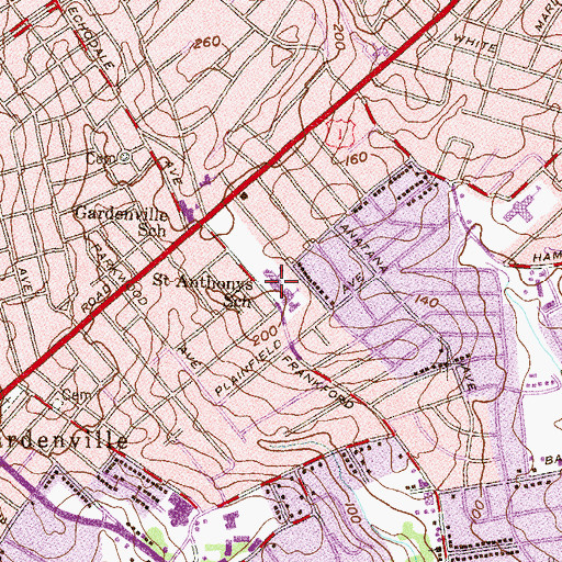 Topographic Map of Baltimore International Academy, MD