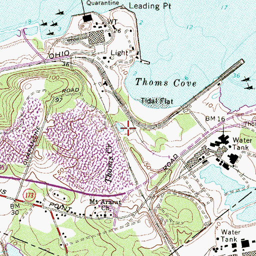 Topographic Map of Thomas Creek, MD