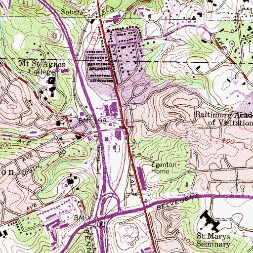 Topographic Map of Western Run, MD