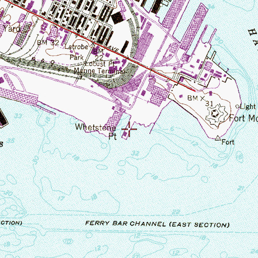 Topographic Map of Whetstone Point, MD