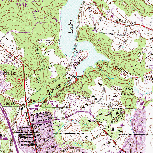 Topographic Map of Lake Roland Dam, MD