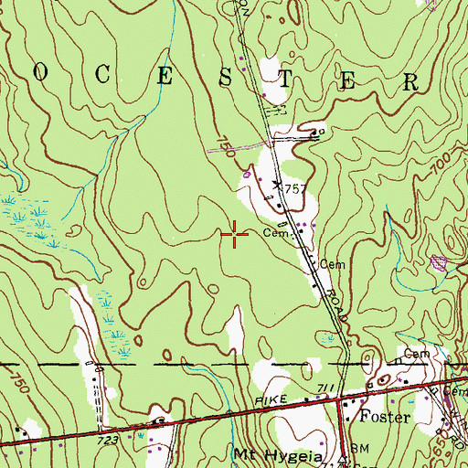 Topographic Map of Seekonk Intermediate School, MA