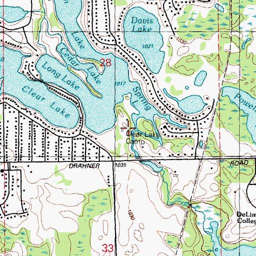 clear lake michigan map Clear Lake Camp Mi clear lake michigan map