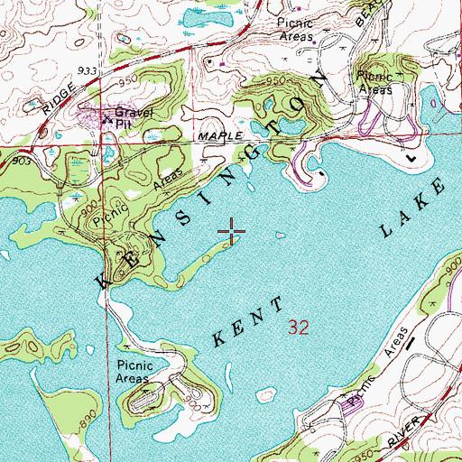 kent lake michigan map Kent Lake Mi kent lake michigan map