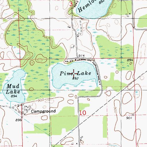 Pine Lake Michigan Map  Michigan Map