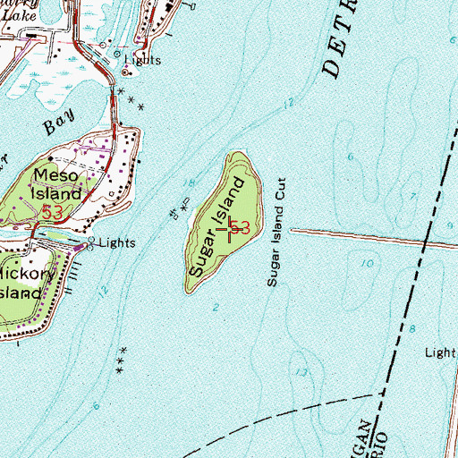 sugar island michigan map Sugar Island Mi