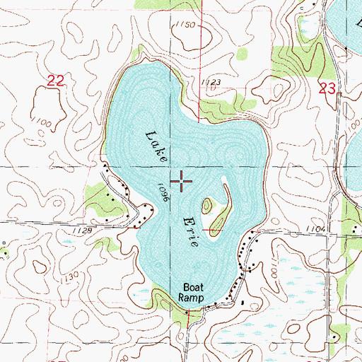 Lake Erie MN - Lake erie topographic map