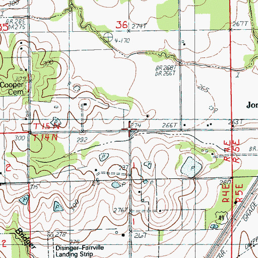 Topographic Map of Clinton School (historical), AR