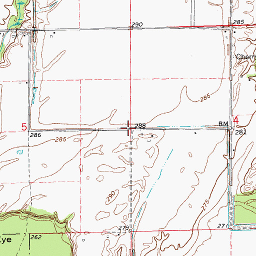 Topographic Map of Cherokee Bay, AR