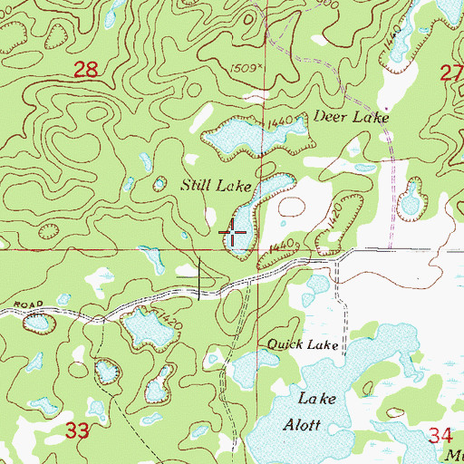 Topographic Map of Still Lake, MN