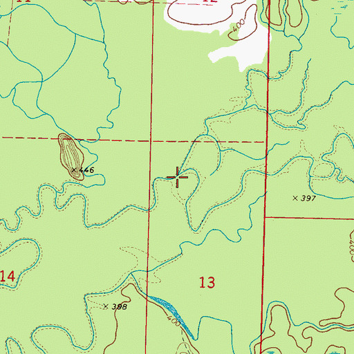Topographic Map of Joel Creek, MS