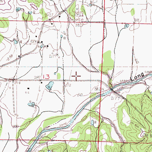 Topographic Map of New Deal School, MS