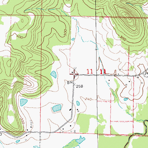 Topographic Map of Departe (historical), AR