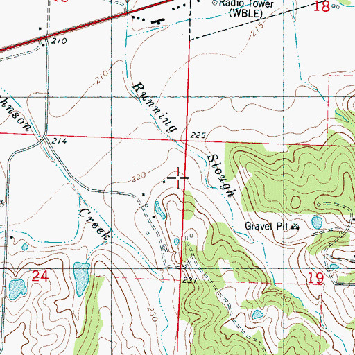 Topographic Map of J H McGee Pond Dam, MS