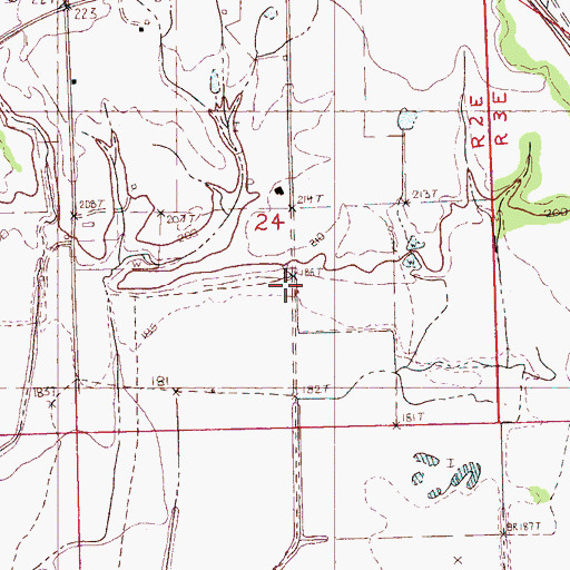 Topographic Map of Rosewall School (historical), MS