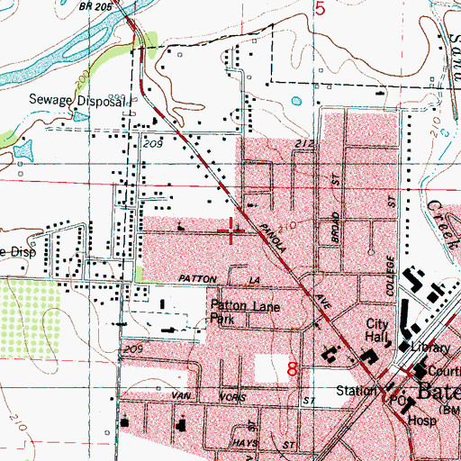 Topographic Map of Coleman Church, MS