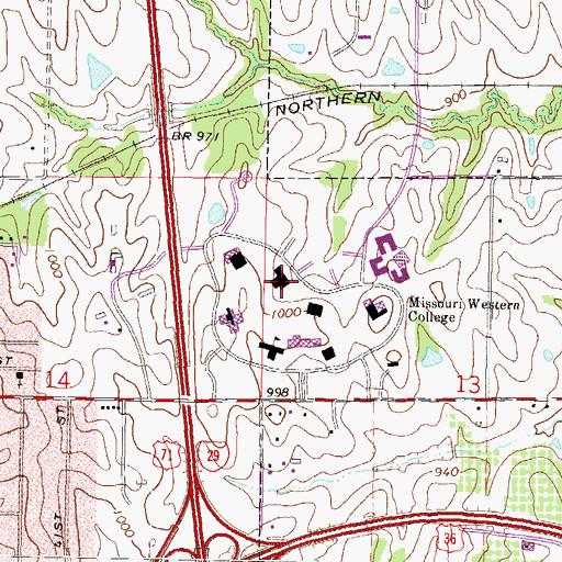 Missouri Western State University Campus Map.Missouri Western State University Western Campus Mo