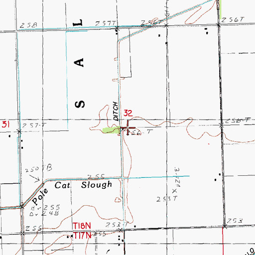 Topographic Map of Ragland Ditch, MO