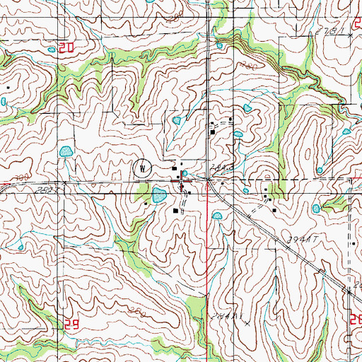 Topographic Map of Cookman, MO
