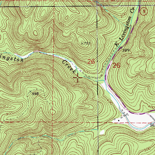 Topographic Map of Partee Spring, AR