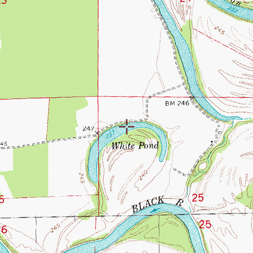 Topographic Map of White Pond, AR
