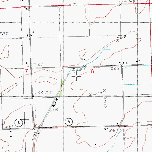 Topographic Map of Ditch Number 4, MO