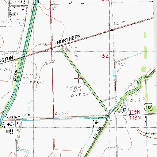 Topographic Map of Lateral Number 4, MO